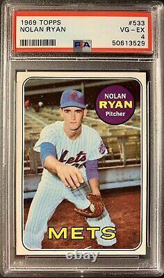 1969 Topps #533 NOLAN RYAN 2nd Year Amazing PSA 4 VG-EX HOF All Time Great