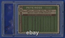 1976 Topps Pete Rose Card #240 Psa 8 Nm-mt