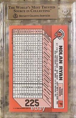 1989 Pop 1 Nolan Ryan Hof Bowman Tiffany #225 Bgs 10 Pristine