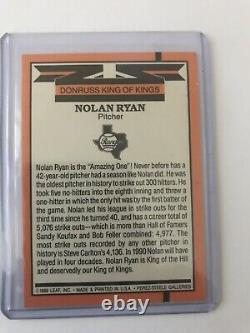 1990 Donruss Nolan Ryan Diamond King of Kings Error