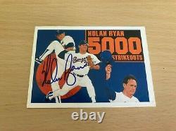1990 Upper Deck Nolan Ryan 5000 Strikeouts Auto Card (with COA)
