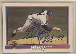 1991 Bowman NOLAN RYAN Signed Baseball Card PSA/DNA #280 Auto Grade 10 withHOF 99