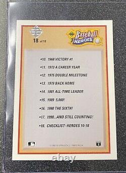 1991 Nolan Ryan Upper Deck Baseball Heroes #18 MINT 546/2500 HOF Astros AUTO