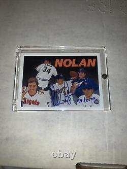 1991 Nolan Ryan Upper Deck Baseball Heroes #18 MINT 991/2500 HOF Astros AUTO