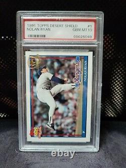 1991 Topps Desert Shield Baseball Card Nolan Ryan #1 PSA 10 EXTREMELY RARE