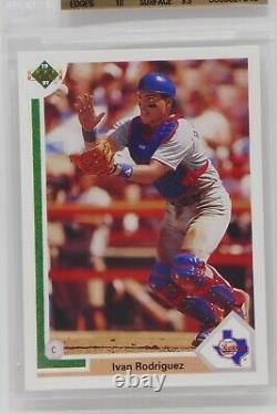 1991 Upper Deck Final Edition #55F Ivan Rodriguez Rookie Beckett 10 PRISTINE