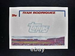 1992 Topps Ivan Rodriguez Texas Rangers NN & NoBio #78 All-Star RC Rookie Card
