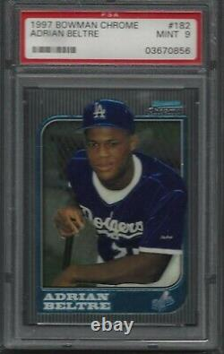 1997 Bowman Chrome Adrian Beltre Rookie PSA 9 #182 Future Dodgers Rangers HOF RC