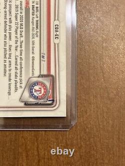 (1) Evan Carter 2020 Bowman Chrome Purple Auto /250! SP Autograph. 1st Bowman RC