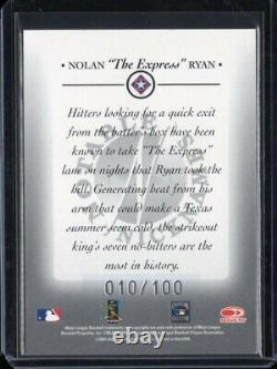 2001 Donruss Signatures Notable Nicknames Nolan Ryan Auto # /100