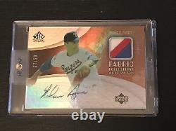 2005 UD Reflections Nolan Ryan Game Used Jersey Patch Autograph Auto /50 Rangers