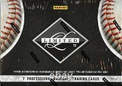 2011 Panini Limited Baseball Hobby Box Factory Sealed New