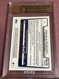 2012 Bowman Chrome Ronald Guzman Superfractor Auto 1/1 Bgs 9.5/10 Texas Rangers