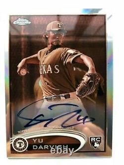 2012 Topps Chrome Sepia Autograph #151 Yu Darvish Rookie Card RC (34/75)