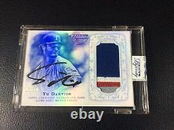 2015 Topps Dynasty Yu Darvish Jersey Patch Autograph 5/10 Texas Rangers Auto