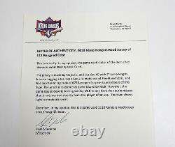 2018 Texas Rangers Rougned Odor #12 Game Used Grey Jersey