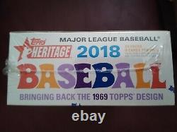 2018 Topps Heritage MLB Baseball Factory Sealed HOBBY BOX