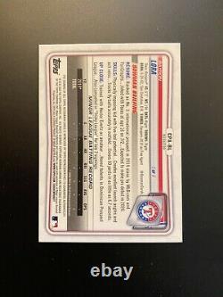 2020 Bowman Chrome Bayron Lora CPA-BL Refractor Auto #89/499 Texas Rangers