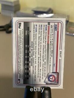 2020 Bowman Chrome Prospect Red Refractor /5 Curtis Terry #CPA-CT Auto