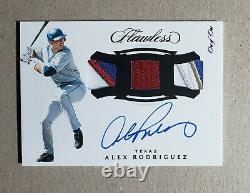 2020 Flawless Alex Rodriguez Autograph Patch 1/1 Texas Rangers On Card Auto