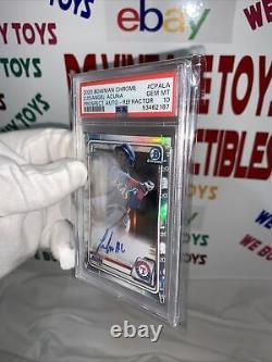 2020 LuisAngel Acuna Bowman Chrome Refractor SP RC Rookie Auto PSA 10 Gem Mint
