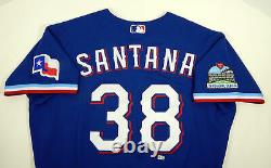 2020 Texas Rangers Danny Santana #38 Game Issued Pos Used Blue Jersey I S P 460