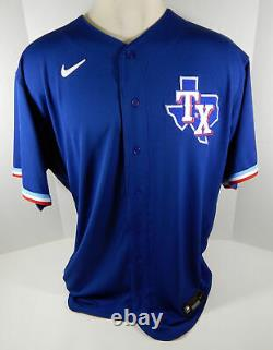 2020 Texas Rangers Lance Lynn #35 Game Issued Blue Jersey Spring Training 463