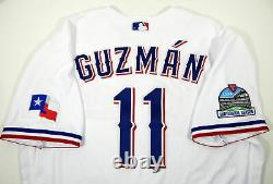 2020 Texas Rangers Ronald Guzman #11 Game Issued White Jersey Inaugural S P 4