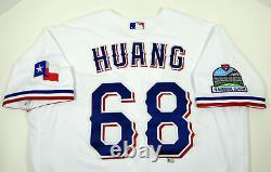2020 Texas Rangers Wei-Chieh Huang #68 Game Issued White Jersey Inaugural S P 26