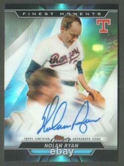 2020 Topps Finest Baseball Moments Autograph #MOMA-NR Nolan Ryan AUTO Rangers