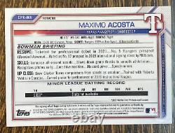 2021 BOWMAN CHROME REFRACTOR MAXIMO ACOSTA AUTO AUTOGRAPH /499 ROOKIE CPA-MA 1st
