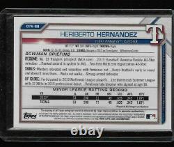 2021 Bowman 1st Chrome Speckle Refractor Heriberto Hernandez On Card Auto /299