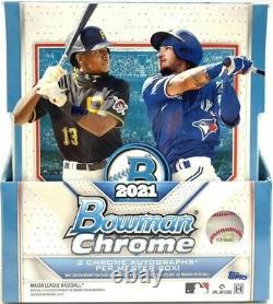 2021 Bowman Chrome Baseball Hobby Box Brand New Factory Sealed