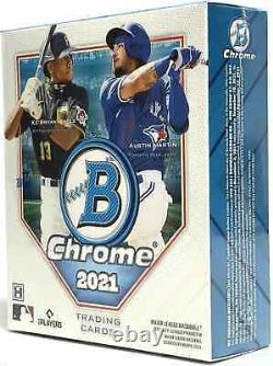 2021 Bowman Chrome Baseball Hobby Box Brand New Sealed Free Priority Shipping