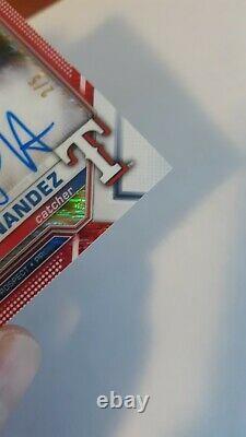 2021 Bowman Chrome HERIBERTO HERNANDEZ Red shimmer REFRACTOR AUTO #/5