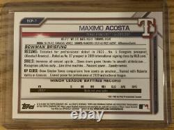 2021 Bowman Chrome MAXIMO ACOSTA 1st Bowman Green Refractor #BCP-7 98/99 RANGERS