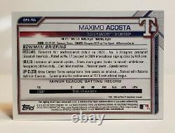 2021 Bowman Chrome MAXIMO ACOSTA TRUE GOLD REFRACTOR 1ST AUTO #18/50 RANGERS WOW