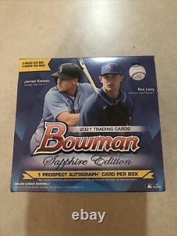 2021 Bowman Sapphire Edition Baseball Sealed Box In Hand