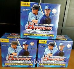 2021 Bowman Sapphire Edition Hobby Box Lot of 3 Sealed Boxes IN HAND BASEBALL