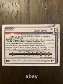 2021 Bowman Sapphire True 1/1 Padparadscha Josh Jung Texas Rangers