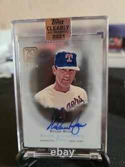 2021 Clearly Authentic Nolan Ryan 24/50 Auto