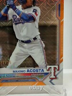 2021 Maximo Acosta 1st Bowman Chrome Orange Mojo #'d to 25
