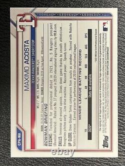 2021 Maximo Acosta Bowman Chrome Auto Rangers