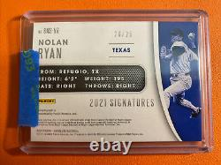 2021 Nolan Ryan Gold Auto #20/25 Absolute Ball Patch Autograph GOLD INK