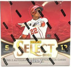 2021 Panini Select Baseball Factory Sealed Hobby Box 2 Autos