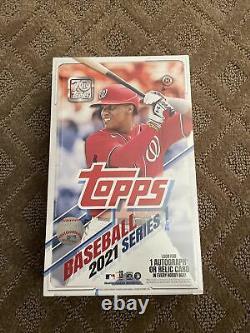 2021 Topps Baseball Card Series 1 Factory Sealed Hobby Box Autograph Relic MLB