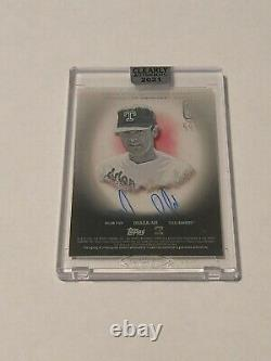 2021 Topps Clearly Authentic Nolan Ryan Auto /50
