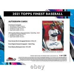 2021 Topps Finest Baseball Hobby 2 Autos & 12 Packs/5 Cards
