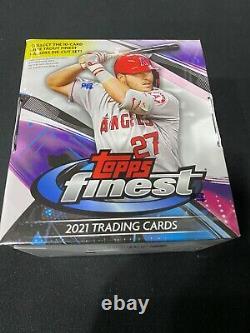2021 Topps Finest Baseball Hobby Box Factory Sealed