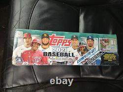2021 Topps MLB Complete Set Factory Sealed Green Target 660 Cards + 1 auto/relic